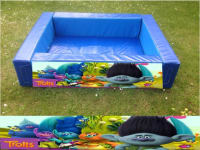 trolls themed foam ball pool 4ft x 4ft with balls
