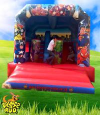 Super Hero Activity Bouncy Castle