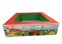 4ft x 5ft Farm Yard Themed Ball Pool with Step and Slide and Balls