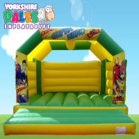 Large Super Hero Bouncy Castle - Green & Yellow #<ul><li>15ft x 15ft</li><li>Just £75 on Week Days</li><li>Suitable For Adults</li></ul>