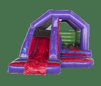 12ft x 15ft Childrens Multi Coloured Bouncy Castle Slide Combo