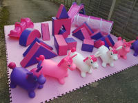 Pink soft play set
