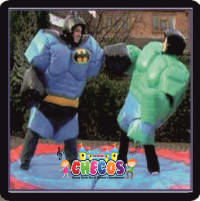 Adult Super Hero Sumo Suits With Sumo Mat