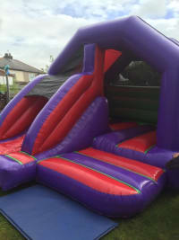 Bouncy castle front slide combo Purple