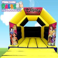 Princess Bouncy Castle Hire - Blue & Yellow#<ul><li>11ft x 15ft</li><li>Just £55 on Week Days</li><li>Children Only</li></ul>