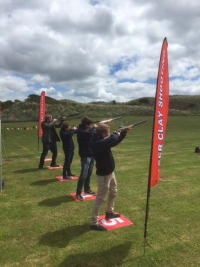 Laser Clay Shooting Hire , Laser clay pigeon shooting