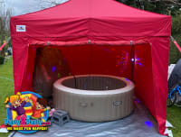 Deluxe 6 Person Pure Spa Hot Tub Hire Plus Gazebo Lights Bluetooth Speaker 5 Day Hire Kids Entertainer Disco Nerf Bouncy Castle Hot Tubs In Nottingham Derby Loughborough Leicester Mansfield Chesterfield