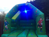Deluxe Football Bouncy Castle 12ft x 15ft with music and light