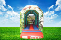 Small Jungle Themed Bouncy Castle