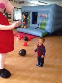 Peppa Pig Mascot Bouncy Castle Hire In Bristol Weston Super Mare