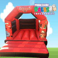 Cars Bouncy Castle - Red & Black#<ul><li>11ft x 15ft</li><li>Just £55 on Week Days</li><li>Children Only</li></ul>