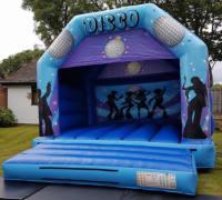 Disco Bouncy Castle Blue (Adults)