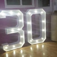 Illuminated Letters Wedding Entertainment Services In Scottish