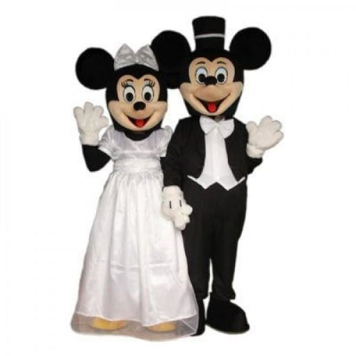Mickey And Minnie Wedding.Mickey Mouse Minnie Mouse Wedding Day Mascot Bouncy Castle Hire