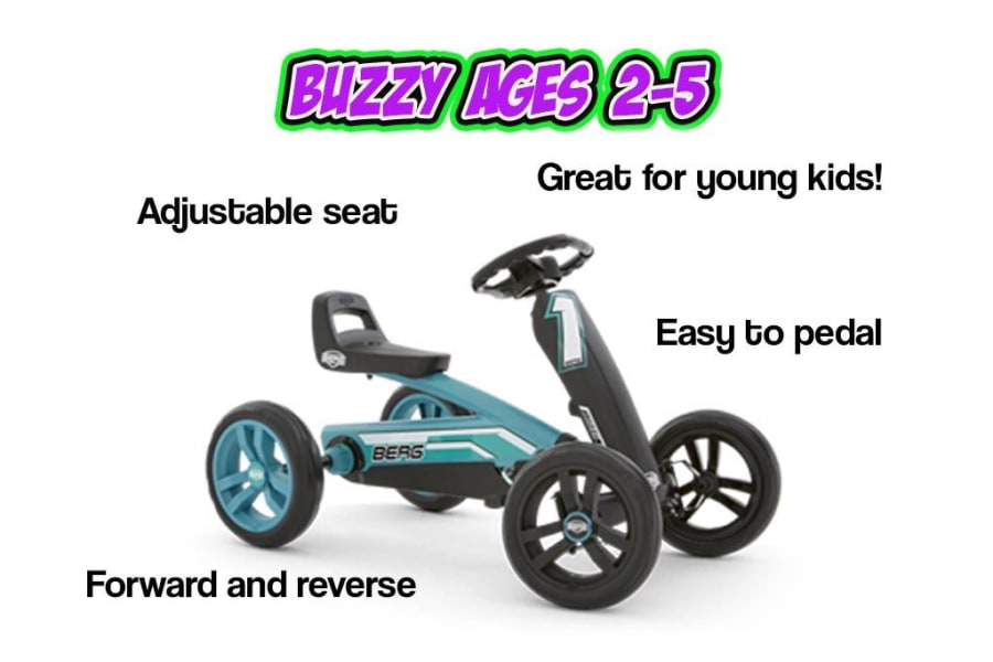 Buzzy Crazy Pedal Go Kart Ages 2 5