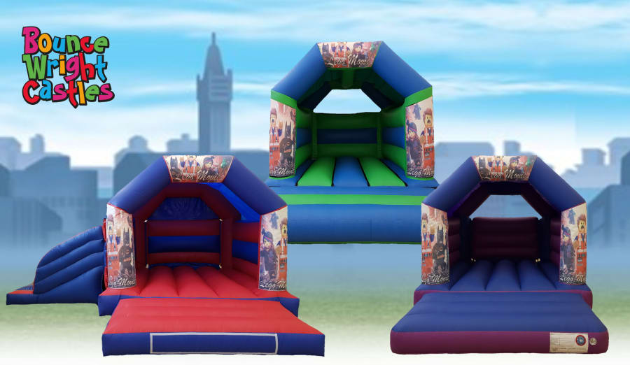 Lego Movie Theme Bouncy Castle Hire In Lincoln Gainsborough