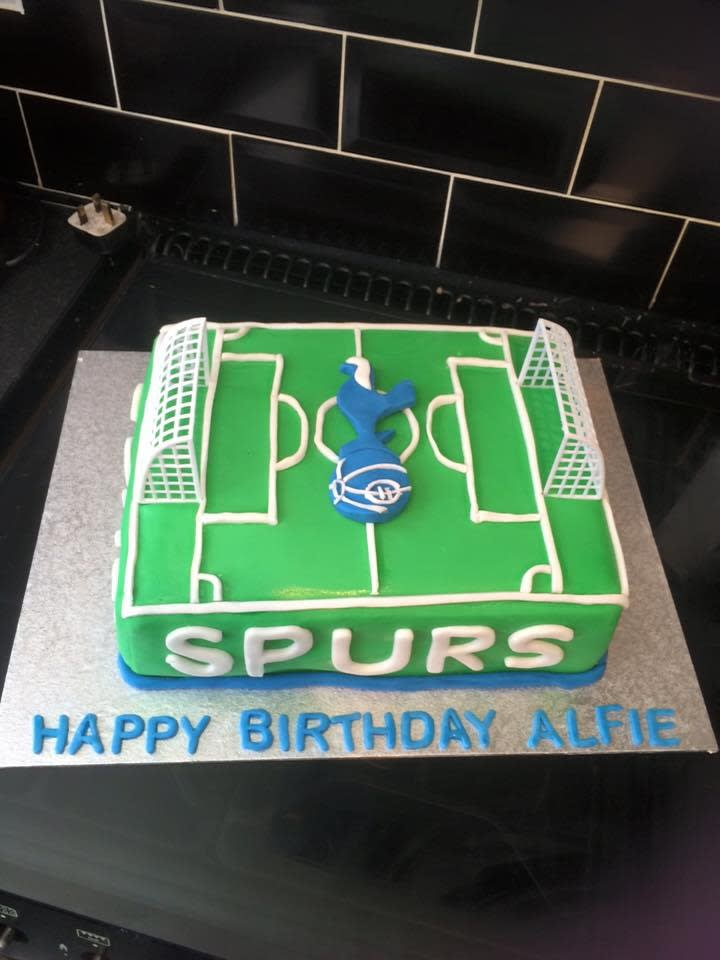 Stupendous Football Cake Middlesex West London Personalised Birthday Cards Paralily Jamesorg