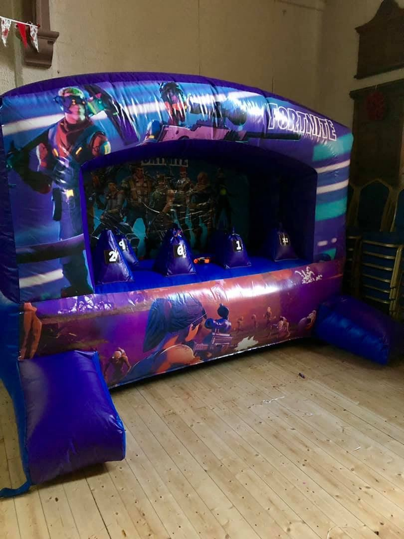 Play On Nerfed Res Fortnite Fortnite Nerf Shoot Em Up Bouncy Castle Hire Soft Play Hire In West London Hammersmith Fulham Chelsea North London Putney London Surr