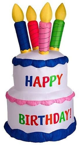 Awesome Inflatable Birthday Cake Bouncy Castle Hire In Bath Frome Personalised Birthday Cards Bromeletsinfo