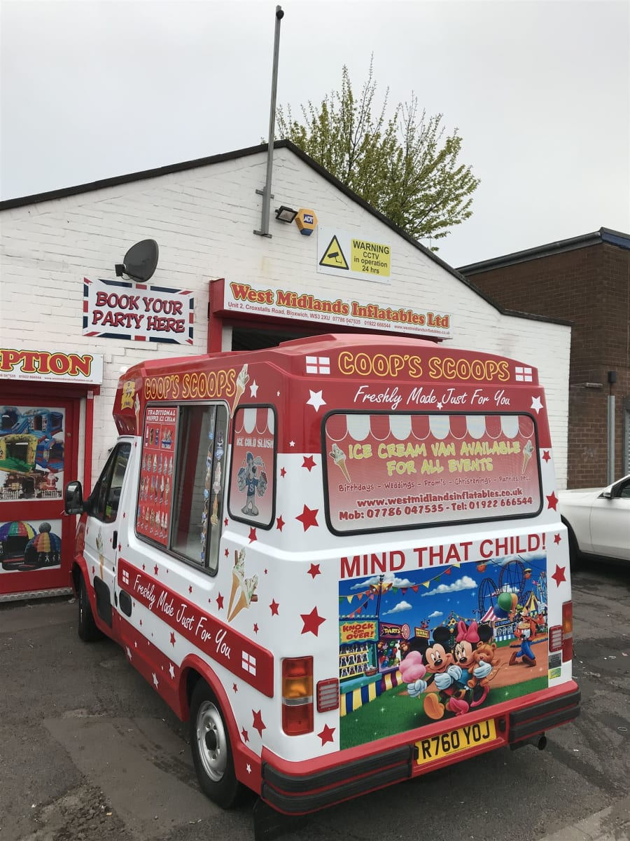 74fa7a513a71 Ice Cream Van - Bouncy Castles in West Midlands