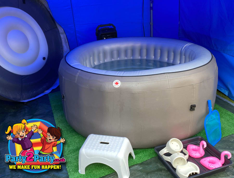 Deluxe 4 Person Hot Tub Hire With Gazebo Lights Bluetooth Speaker 3 Day Hire Kids Entertainer Disco Nerf Bouncy Castle Hot Tubs In Nottingham Derby Loughborough Leicester Mansfield Chesterfield