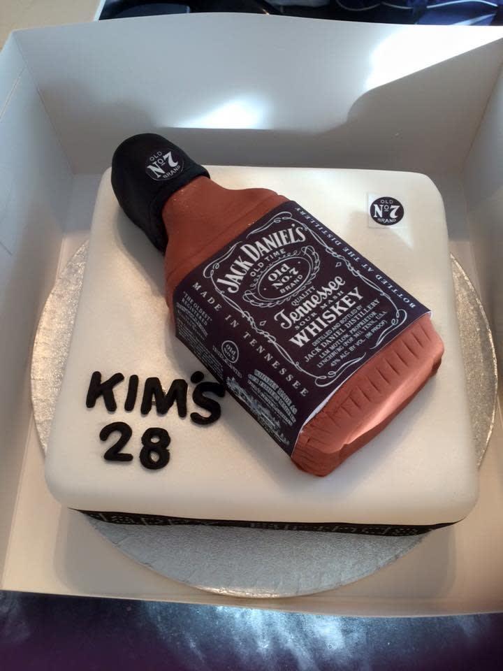 Pleasant Adult Birthday Cake Jack Daniels Middlesex West London Personalised Birthday Cards Sponlily Jamesorg