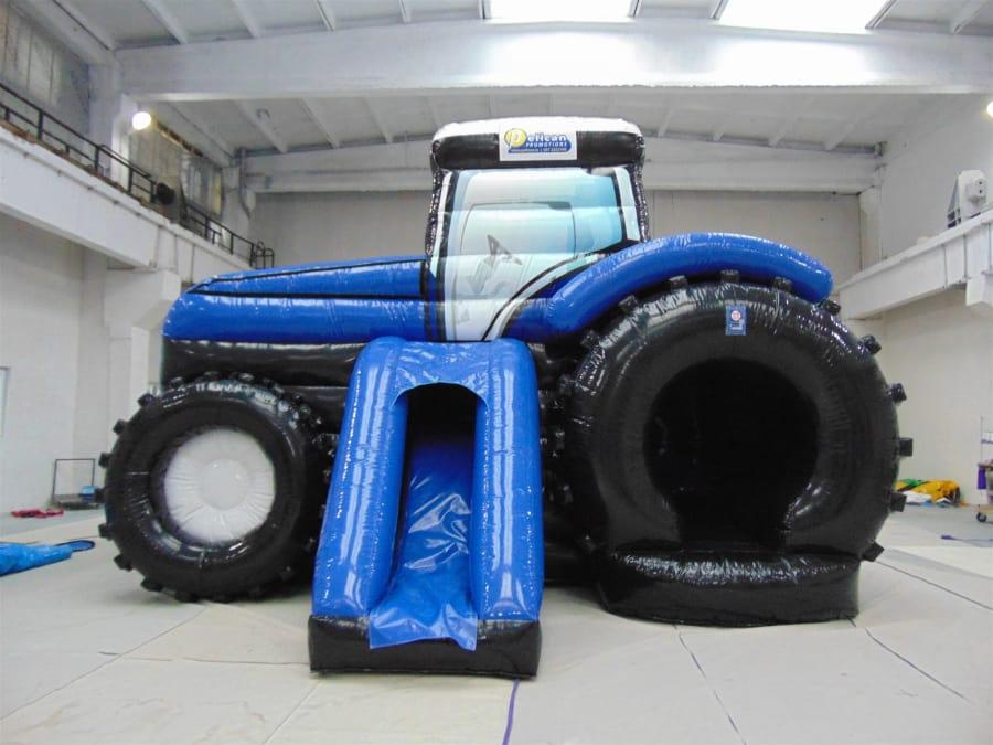 mega disco slide tractor blue