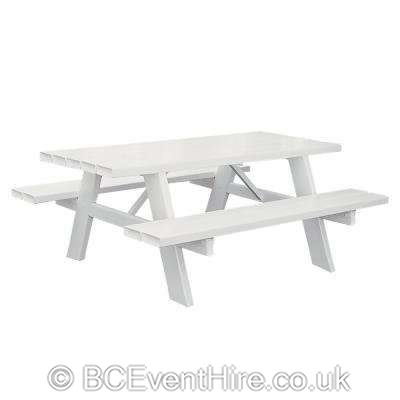 Super Picnic Bench White Bouncy Castle Hire In Coventry Pdpeps Interior Chair Design Pdpepsorg