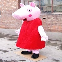 Peppa Pig Mascot Hire Unmanned