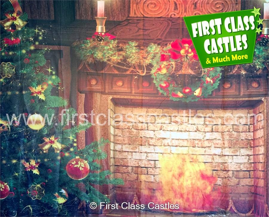 10ft Fireplace Scene Backdrop 2 Cb02