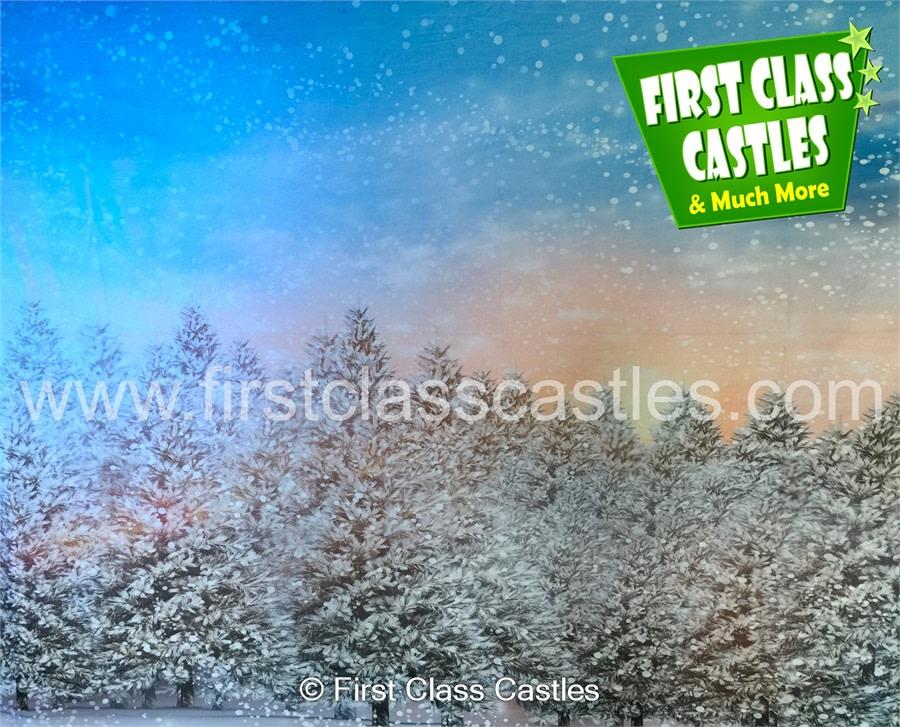 Christmas Candyland Backdrop.20ft X 10ft Candyland Scene Cb09