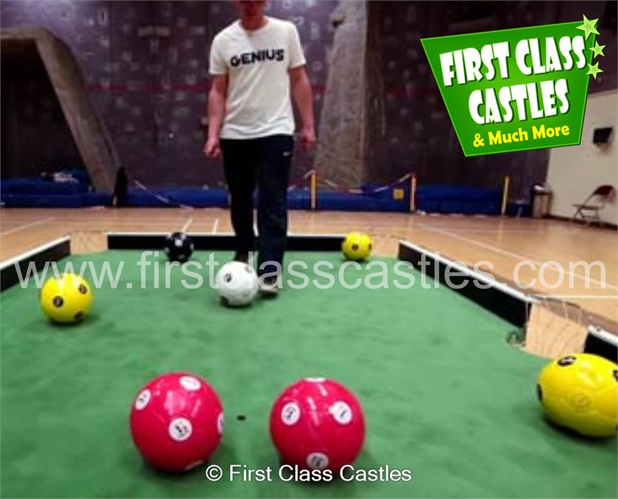 Foot Pool Human Snooker Game GH Bouncy Castle Event Games - Human pool table