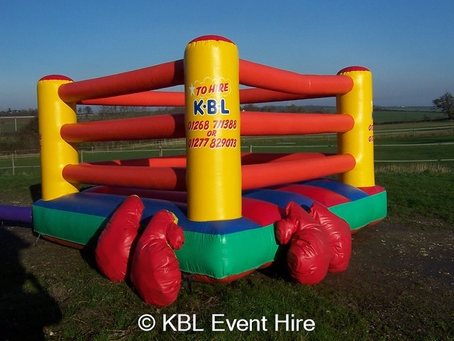 Boxing Ring Inflatable: Size 12x12 for ages 5-adults