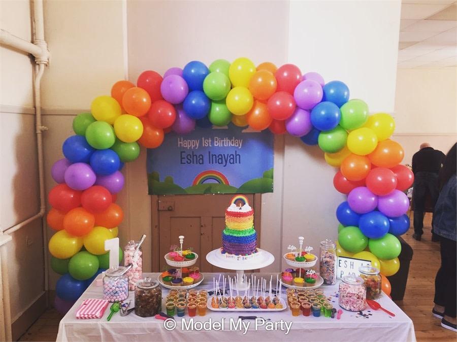 Rainbow Cake Table