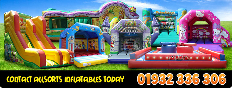 Contact Allsorts Inflatables on 01932 336 306
